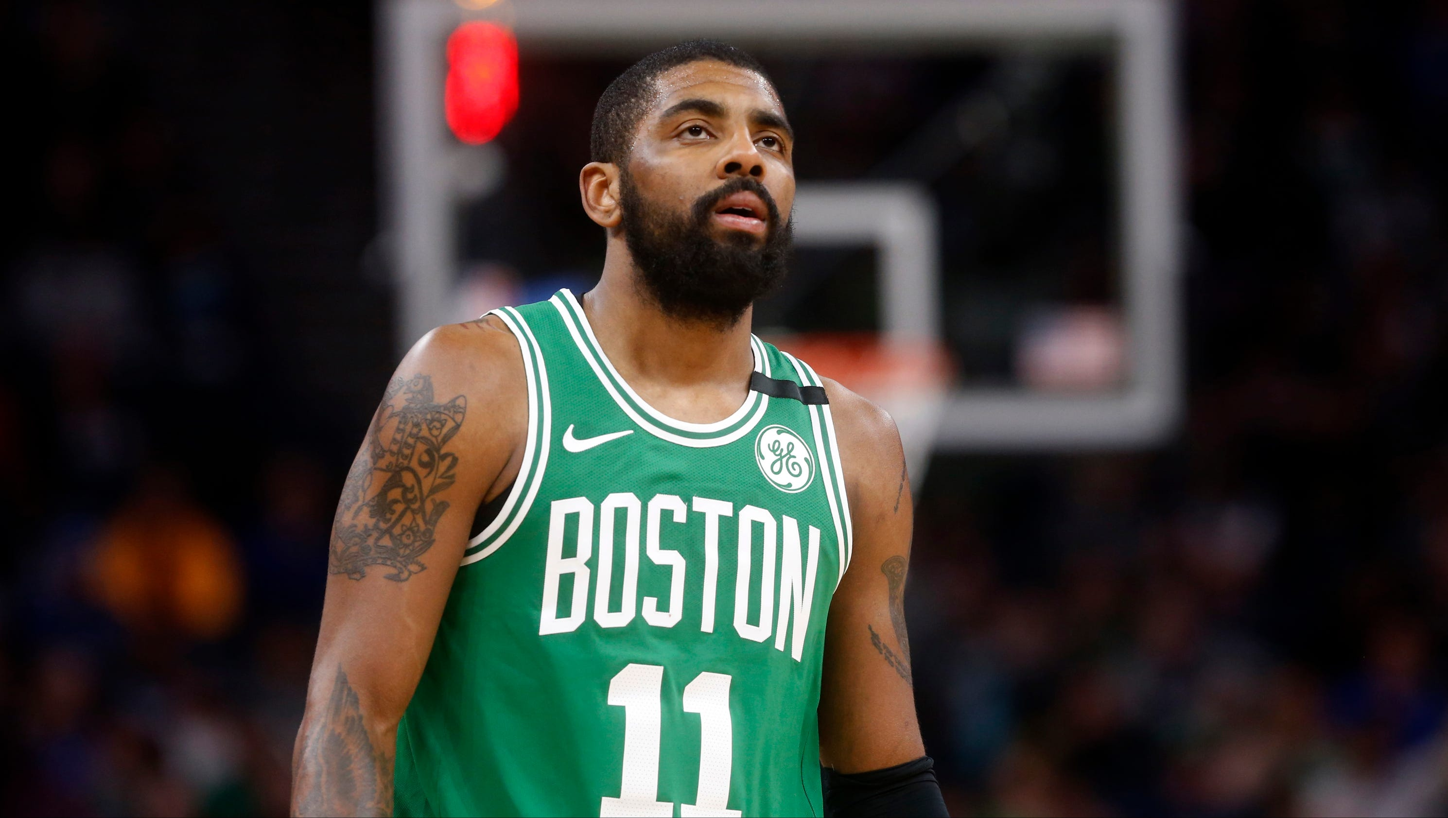 how to draw kyrie irving celtics