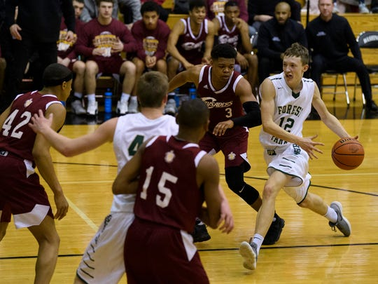 Forest Park's Isaac Uebelhor (12) drives past Indianapolis