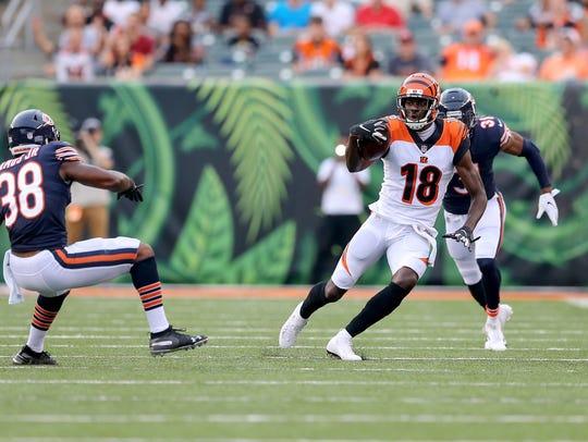 Cincinnati Bengals wide receiver A.J. Green (18) runs