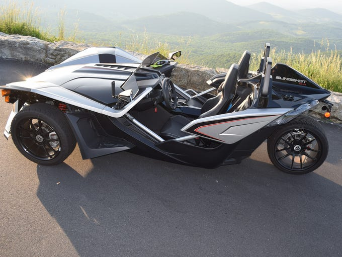 No doors needed: To get into the Slingshot, you step