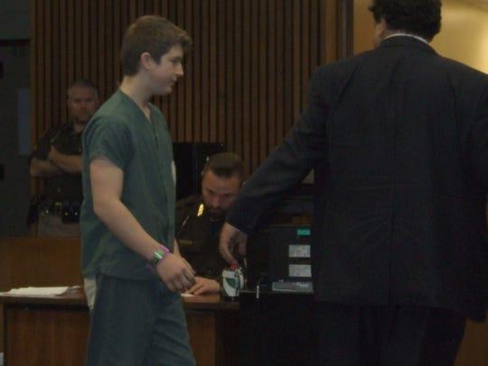 Brendan Sibel follows attorney David Nacht to the judge's