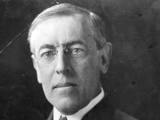 President Woodrow Wilson, a former governor of New Jersey.