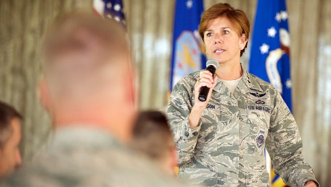 Air Force Gen. Lori J. Robinson, shown here in January 2016 at Pearl Harbor, is the new chief of U.S. Northern Command.