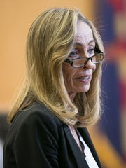 Prosecutor Jeannette Gallagher, shown in court on March