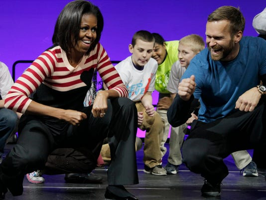 Michelle Obama, Bob Harper