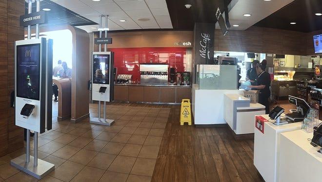 Customers at the Elmira McDonald's restaurant can now order meals using self-serve digital kiosks.