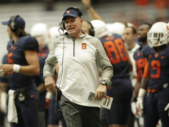 Syracuse head coach Scott Shafer comes off a 3-9 season in which the Orange won only one Atlantic Coast Conference game in eight tries.