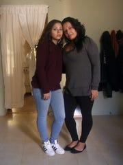 Pasqualina Gallo with her daughter Lourdes Ortiz, 17,