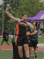 Ashland's David Amstutz, competing here in last week's