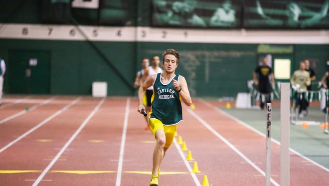 Lakeview graduate Scott Bradley at the EMU Quad Meet on Jan. 9. Bradley is a junior middle-distance runner and a captain of the Eastern Michigan University men's track and field team.