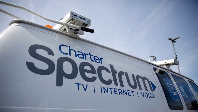 A Charter Communications van  in Town and Country, Mo.