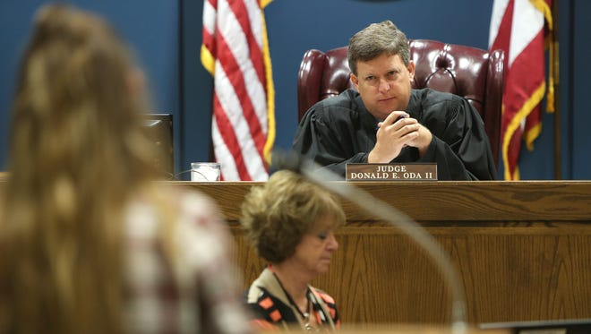 Judge Donald Oda presides over Warren County Common Pleas court on June 11. If all goes as planned, Oda will be the first judge in the region, and one of only a handful in Ohio, to stream courtroom proceedings online to the public.
