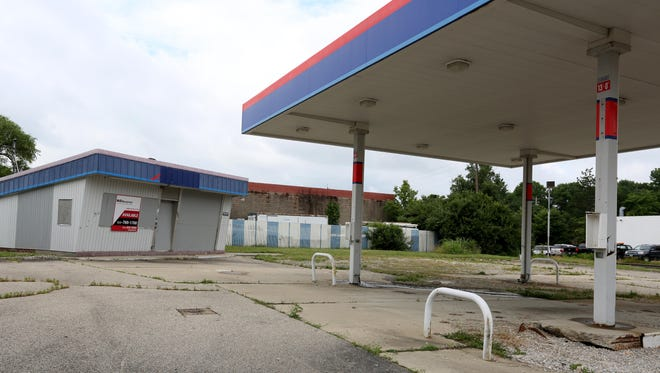 An abandoned gas station on Wyoming Avenue in Lockland.