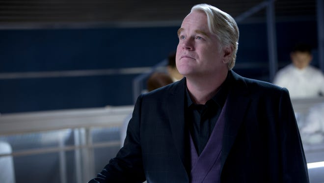 Philip Seymour Hoffman, seen here in 'The Hunger Games: Catching Fire,' gives a film farewell in 'Mockingjay — Part 2.'