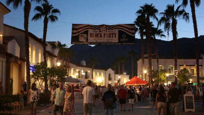 Locals and visitors pack the Main Street Block Party in Old Town La Quinta in September.