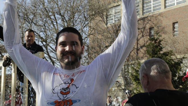 Sam Fawley, Special Olympics athlete, participated Saturday, Feb. 20, 2016 in the 2016 Polar Plunge at Purdue University.  The event benefits Special Olympics Indiana.