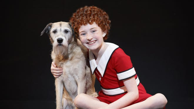 "Eleven-year-old actress Heidi Gray plays Little Orphan Annie in the national touring production of ""Annie."""