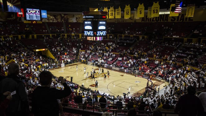 ASU tips off against Oregon State at Wells Fargo Arena in Tempe, AZ on January 28, 2016.