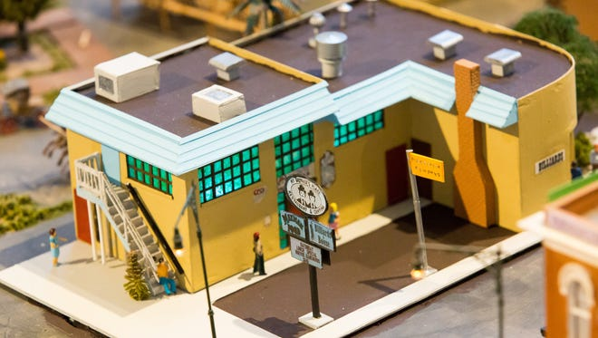 A miniature My Brother's Place, is unveiled on Saturday, October 22, 2016, as the newest addition to the model railroad display at the Las Cruces Railroad Museum.