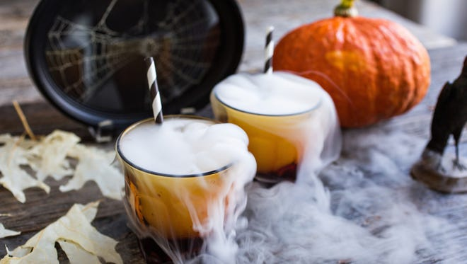 In Charleston, The Restoration is serving a Halloween punch made with aged rum, Velvet Falernum and blood orange purée.