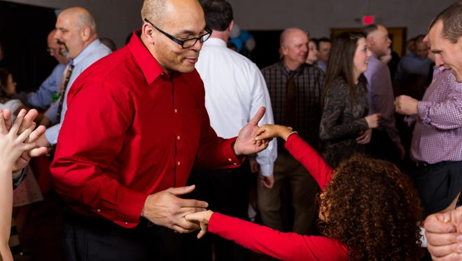 A scene from the Fletcher Father-Daughter Dance, which returns in February.