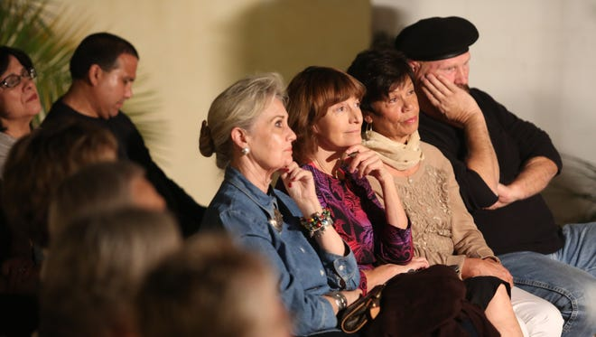 The audience listens to Daniela Franco during the Story Tellers Project at the La Quinta Museum on February 8, 2017.