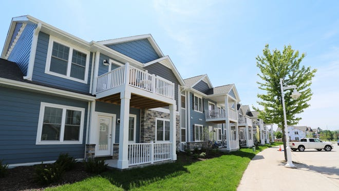The exterior of the Portscape Apartments Wednesday June 14, 2017 at south pier in Sheboygan, Wis.