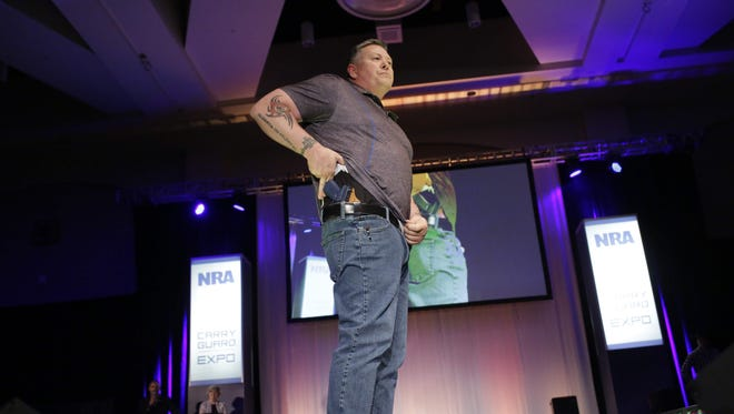 At the National Rifle Association Concealed Carry Fashion Show in Milwaukee on Aug. 25, 2017.