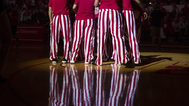 IU's iconic candy-striped warmups came under attack by FS1 broadcaster Donny Marshall on Friday night.