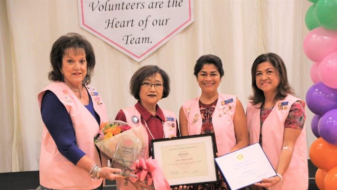 During the recently held Guam Memorial Hospital volunteers association awards ceremony. volunteer Jam Maravilla received the distinguished honor of GMHVA lifetime member for her 15 years and more than 5000 hours of volunteer service to GMH patients. Pictured from left: Founding and lifetime member Margaret Jones, lifetime member Jam Maravilla, First Lady and lifetime member Christine Calvo, and President and lifetime member Joyce Crisostomo. To join or to make a donation to GMHVA email gmhva@yahoo.com.