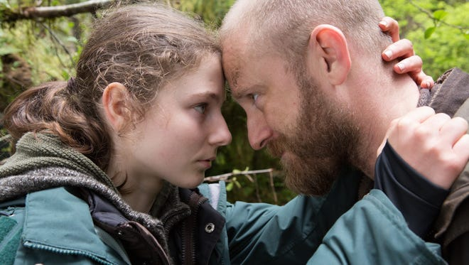 "Thomasin Harcourt McKenzie and Ben Foster star in ""Leave No Trace."""