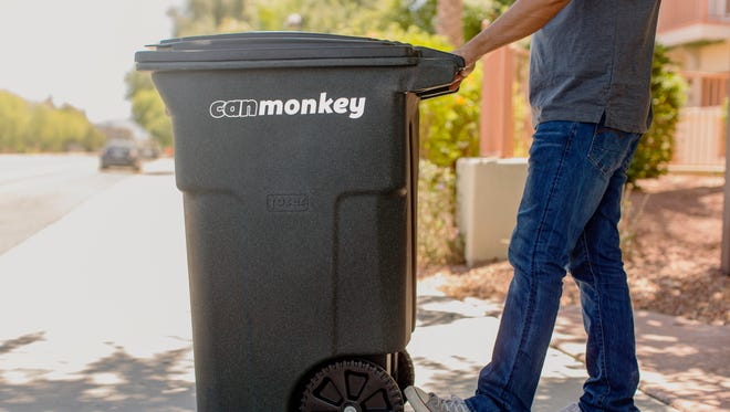 Can Monkey charges users $35 a month to have runners take trash and recycling cans to the curb for their regularly scheduled pickup. The company will returncansback to their original location after pickup.