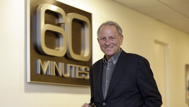 """""""60 Minutes"""" executive producer Jeff Fager faces misconduct allegations. Here, he poses for a photo at the """"60 Minutes"""" offices in New York in 2017."""