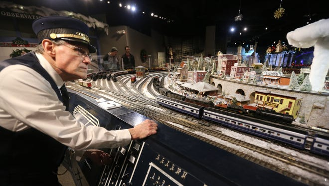 Clem Scovanner, 67, has been one of the train masters since the Duke Energy Holiday Trains display moved to the Cincinnati Museum Center four years ago. When he's not making sure the trains are running properly, he answers questions from both young and old. Scovanner's grandfather used to take him to see the trains when he was a toddler.