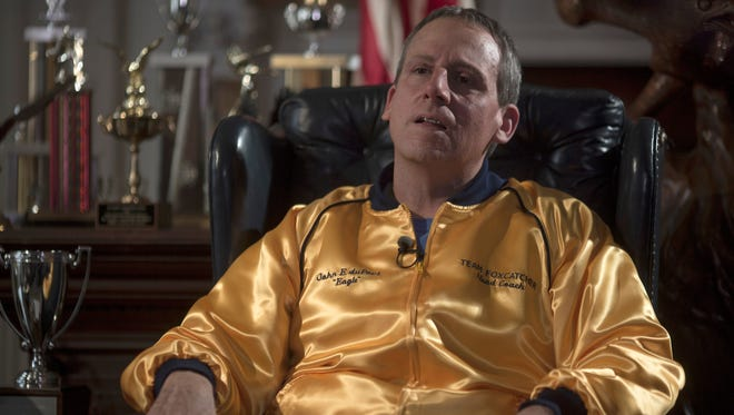 Steve Carell is nearly unrecognizable in 'Foxcatcher.