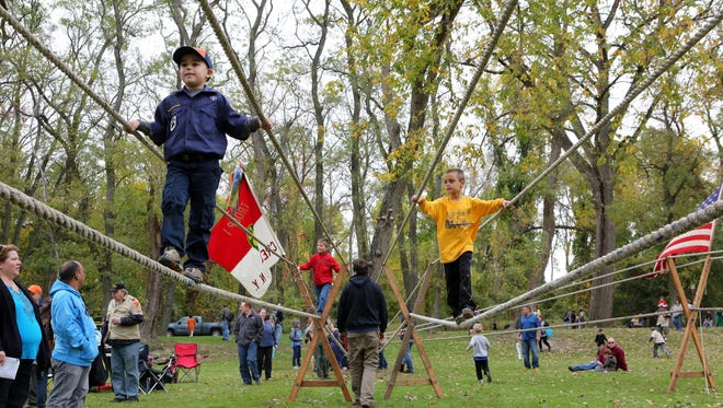 Cub scouts participate in the Thunderbird Games, organized by the Westchester-Putnam Council Boy Scouts of America, Oct. 19, 2013, at Croton Point Park. The 2014 edition is set for Oct. 18-19.