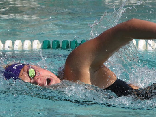 New Berlin Eisenhower's Bella Passamani swims the 400-meter