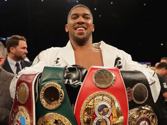 Anthony Joshua is is 21-0 with 20 knockouts.