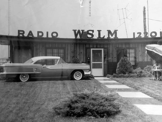 A historic photo of WSLM Radio 1220, in Salem, Ind. Original photo date unknown.  Feb. 14, 2017.