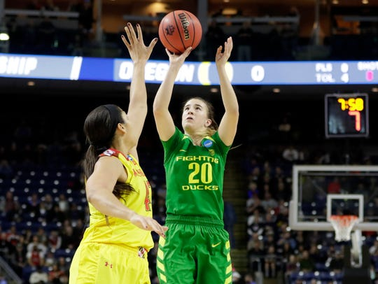 Mar 25, 2017; Bridgeport, CT, USA; Oregon Ducks guard