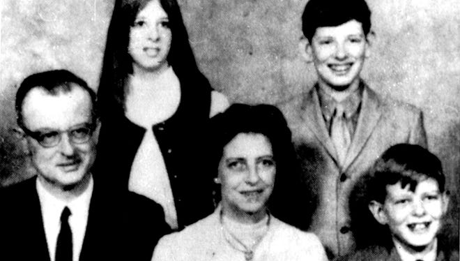 John List with members of his family, whom he later killed, in a 1971 photo.