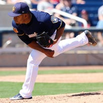 Camp report: Guerra struggles again, but Brewers edge Indians