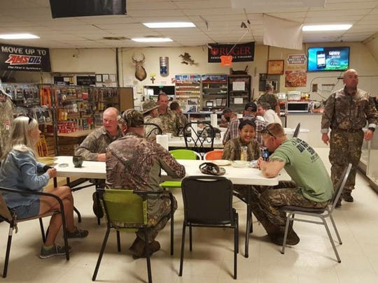 Bud's Country Corner provided a meal for the hunters and other veterans.