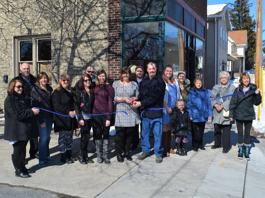 Plymouth's Chamber of Commerce held a ribbon-cutting