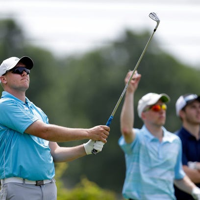 Shawn Kressin hits a shot during the final round of