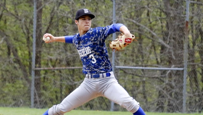 Mike Limoncelli of Horseheads pitches Saturday in a 12-0 win over Elmira at Ernie Davis Academy.