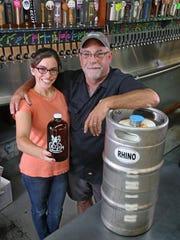 Julie Carvotta Bielecki, owner of AJ's Beer Warehouse,