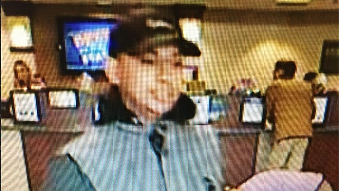 Sparks police released this surveillance footage of the man who robbed a Nevada State Bank branch on April 30.
