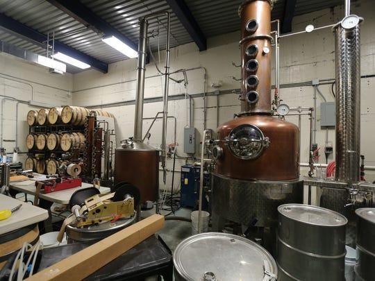 A 500 liter pot still at StillTheOne distillery in Port Chester, Sept. 9, 2016.