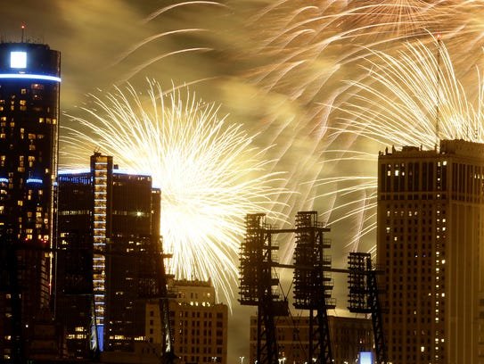 The Ford Fireworks will start just before 10 p.m. Monday.
